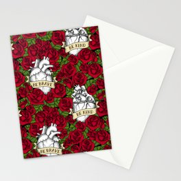 Heart and Roses Stationery Cards