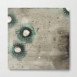 Sepia Circles Left Metal Print