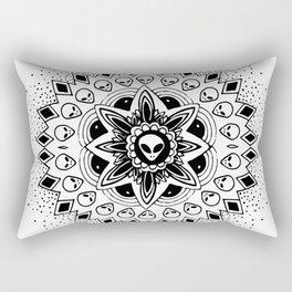 Alien Mandala Rectangular Pillow