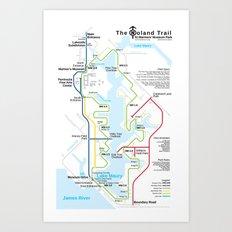Noland Trail Transit Map Art Print