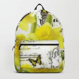 Vintage daffodils Backpack