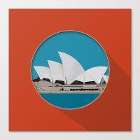 sydney Canvas Prints featuring Sydney by Matthias Hennig