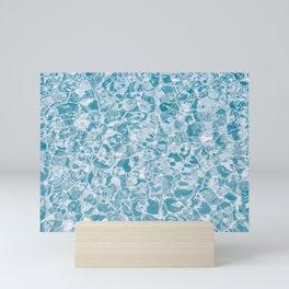 Summer sea turquoise waves photography Mini Art Print