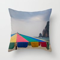 thailand Throw Pillows featuring Thailand by Tosha Lobsinger is my Photographer