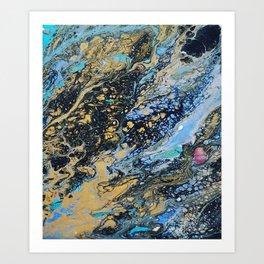dark marble Art Print