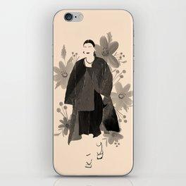 Fashion Blooms No.2 (Black) iPhone Skin