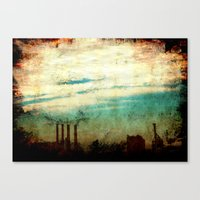 industrial Canvas Prints featuring Industrial by [ his artwork ]