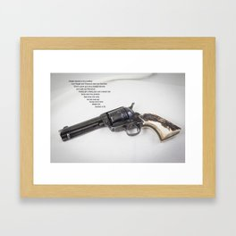 Straight Shooter. With Poem Framed Art Print