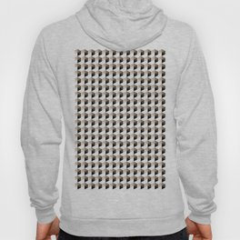 Pantone Hazelnut Hexagon, Cube Pattern Optical Illusion Hoody