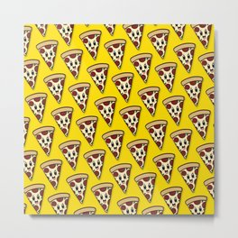 Pizza Party Pattern Metal Print