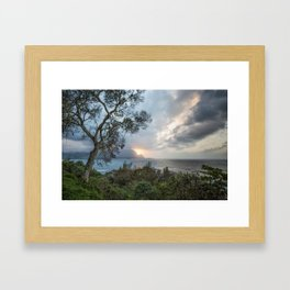 Sunset Over Hanalei Bay from St Regis Framed Art Print