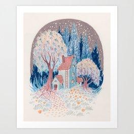 Sleepy Garden Art Print