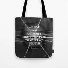 We Live In A Universe Quote - Society6 - Art Tote Bag