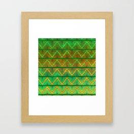 Green Jubilation Framed Art Print