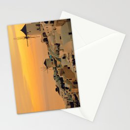 Sunset in Oia, Santorini Stationery Cards