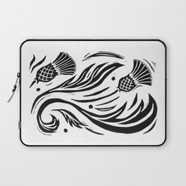 Thistle - Black and White Laptop Sleeve