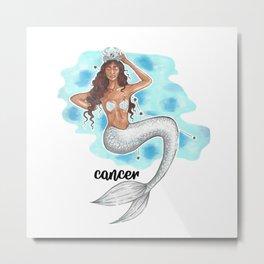 Cancer Mermaids Metal Print
