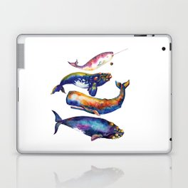 Whale Pyramid #4 - Watercolor Whales Laptop & iPad Skin