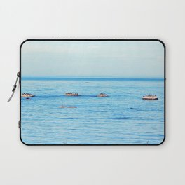 Bird Filled Rocks and a Whale Laptop Sleeve