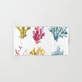 Colorful Chorals Hand & Bath Towel