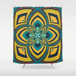 Spiral Rose Pattern B 4/4 Shower Curtain