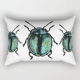 Blue Beetle Rectangular Pillow