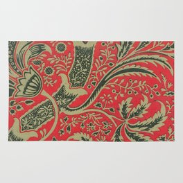 William Morris - Wallpaper Sample With Bamboo Pattern Rug
