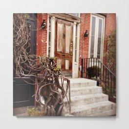 NYC Front Stoop Metal Print
