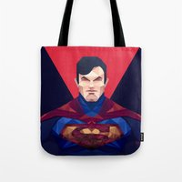 superman Tote Bags featuring Superman by Muito