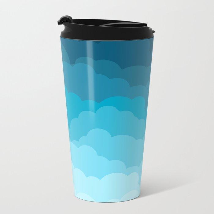 Gradient Clouds Metal Travel Mug