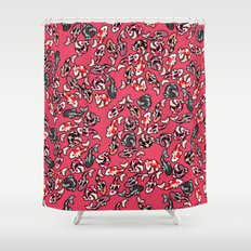 Red Koi Shower Curtain