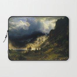 Albert Bierstadt - A Storm in the Rocky Mountains, 1886 Laptop Sleeve
