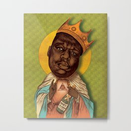 Saint Biggie! Metal Print
