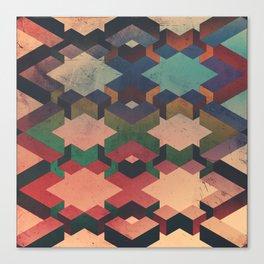 Geo Grunge Canvas Print