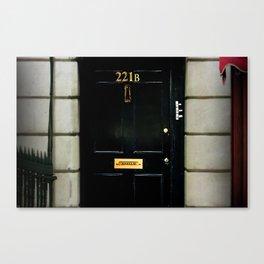 221B Baker Street BBC Sherlock Canvas Print