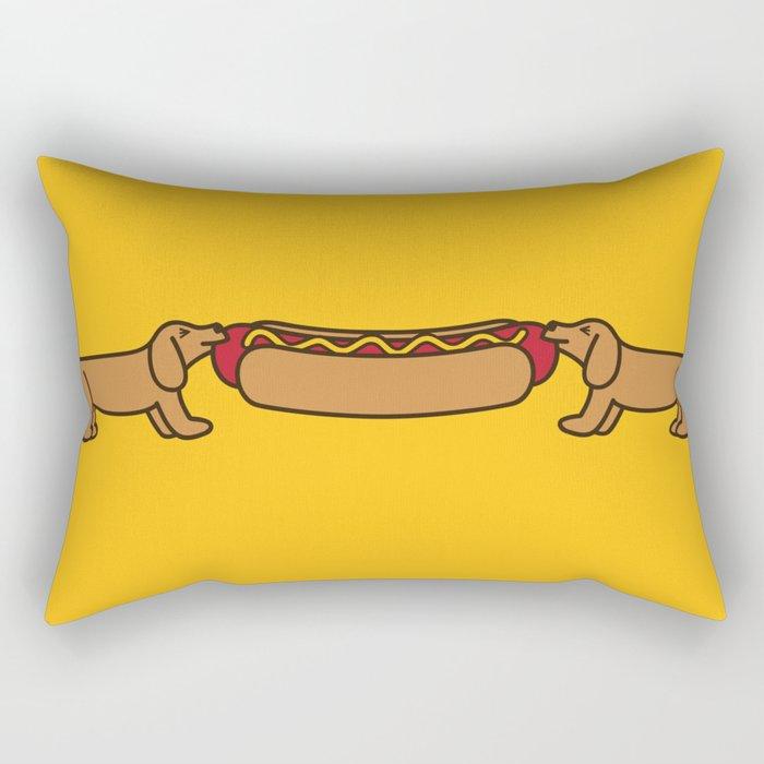 Hot Dog-O-War Rectangular Pillow