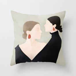 Aligned Model Flow Throw Pillow