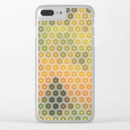 Abstract mosaic geometric colorful background Clear iPhone Case