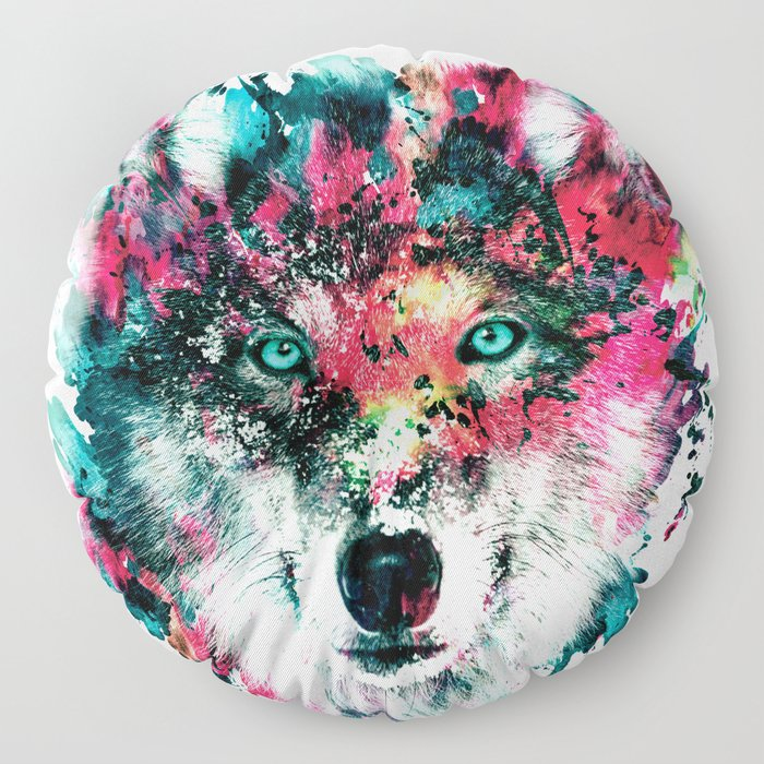 Wolf Floor Pillow