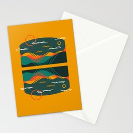 Line Scapes 9 Stationery Cards