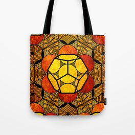 Sacred Geometry for your daily life -  Platonic Solids - ETHER COLOR Tote Bag