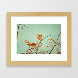 autumn happenings Framed Art Print