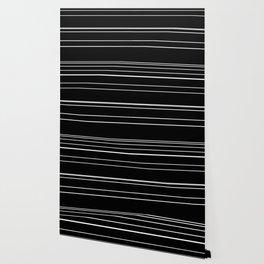 Black with white stripes Wallpaper