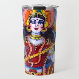 Saraswati Goddess Travel Mug