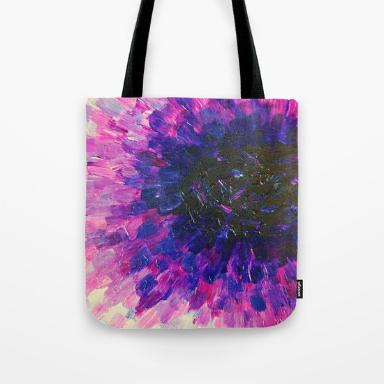 VACANCY - LIMITLESS Bold Eggplant Plum Purple Abstract Acrylic Painting Floral Macro Colorful Void Tote Bag