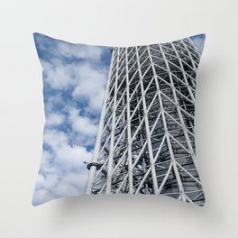 ARCH ABSTRACT 3: SkyTree Tower, Tokyo Throw Pillow