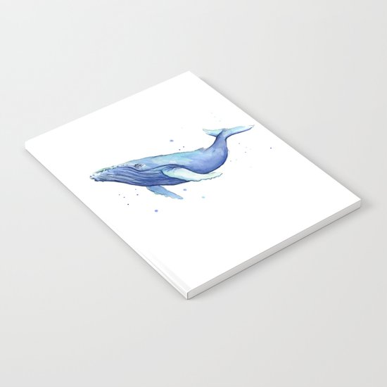 Humpback Whale Watercolor Animal Painting Nursery Animals Notebook
