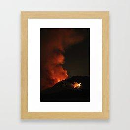 El Diablo Fire Framed Art Print
