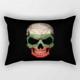Dark Skull with Flag of Bulgaria Rectangular Pillow