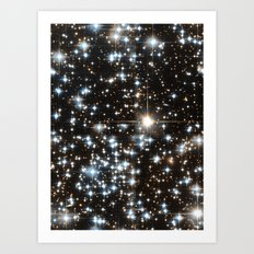 Sparkle Star Field in the Universe Art Print